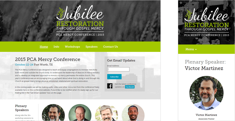 PCA Mercy Conference 2015 Website